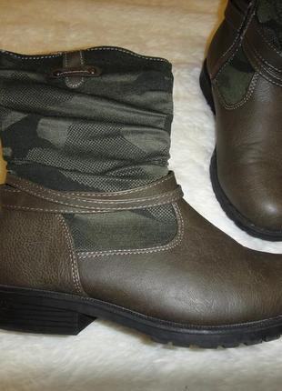 Демисезонные сапоги, ботинки на девочку bizzy р. 32 стелька 20,5