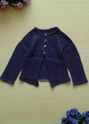 Шерстяной вязаный кардиган на пуговицах, 92-98