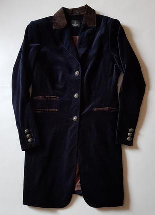 Пальто велюровое темно-синее madeleine  (огромный выбор пиджаков)