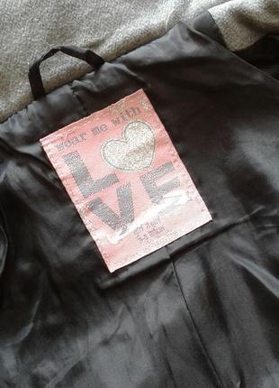 Демисезонное пальто дафлкот wear me with love, 3-4 года 104 см4