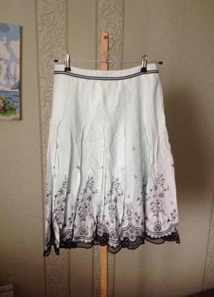Шикарная красивая юбка с вышивкой паетками и бисером