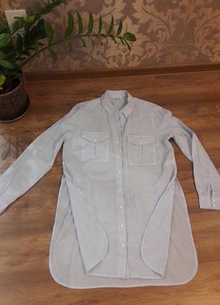 Крутая длинная рубашка river island р.12