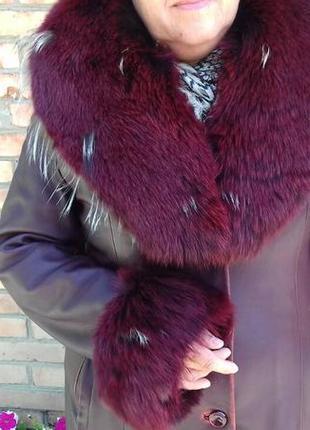 Плащ-пальто, натуральная кожа, зима, осень, демисезонный