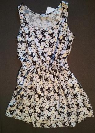 Ромашки. милое платье с цветочным принтом. летний сарафан