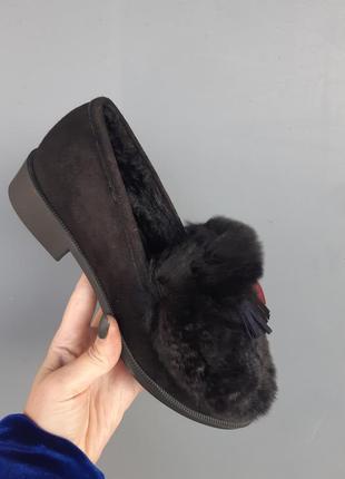 Туфельки меховые, туфли с мехом