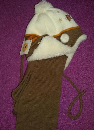 Супер шапка с шарфом