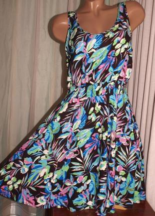 Красивый летний сарафан (л замеры) с узором 100% вискоза, отлично смотрится
