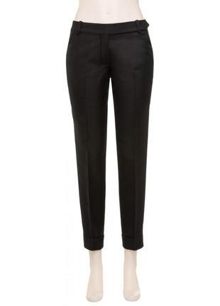 Чёрные зауженные брюки max stidio размер 34eu наш 40-42 xs-s