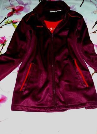 Куртка теплая спортивная цвет марсала рр 24