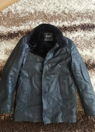 Мужская куртка на меху кожзам