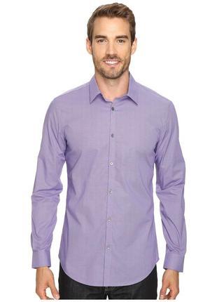 Сиреневая рубашка ck размер l/ 48- 50