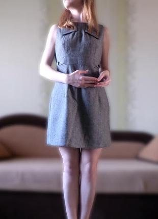 Cерое платье мини с бантом miss selfridge
