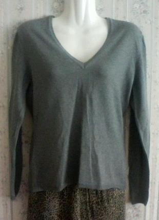 Джемпер- свитер, шерсть мериноса разм.42-44