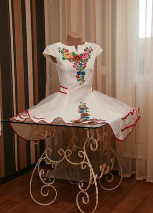 Платье вышитое с фатином3