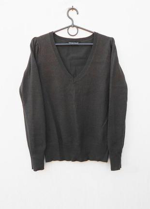 Осенний свитер пуловер с длинным рукавом