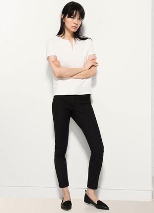 Укороченные брюки,штаны сигареты с кожаным поясом massimo dutti