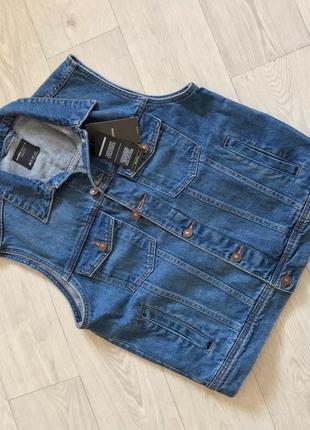 Стильная мужская джинсовка/жилетка bershka
