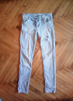Скінні джинси світло-блакитного кольору stradivarius