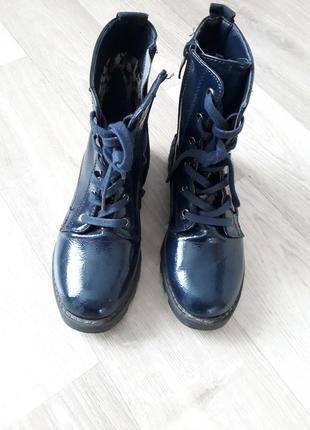 Осенние ботинки для девочки р 34