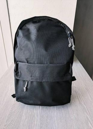 Рюкзак черный ,большой.городской рюкзак. тканевый. распродажа