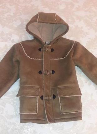 Стильная дублёнка пальто на 5-6 лет