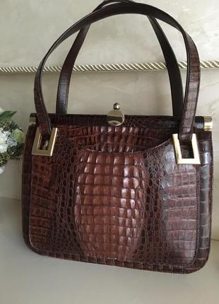 Крокодил  \винтажная сумка из крокодила
