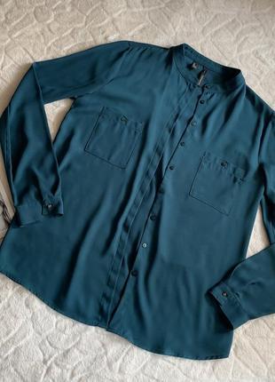 Зелёная блузка mango