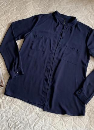 Синяя блуза mango