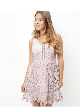 Нереально нежное кружевное платье new look premium, приталенное вечернее