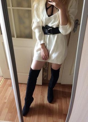 Шикарные высокие сапоги ботфорты сапоги-чулки размер 37