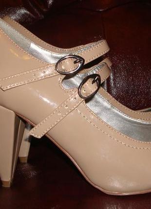 Лаковые туфли с ремешками next