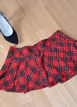 Стильна мини юбка шотланка