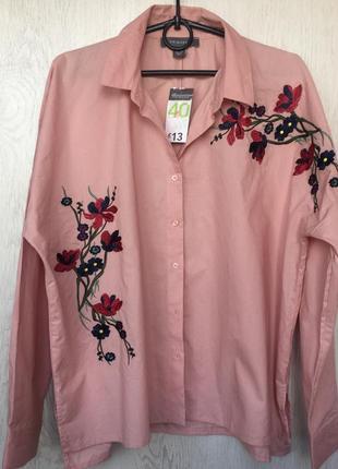 Рубашка primark с вышивкой