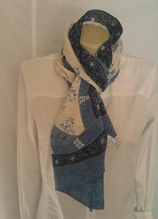 Красивый шарф,оригинальный принт,100%шелк,италия