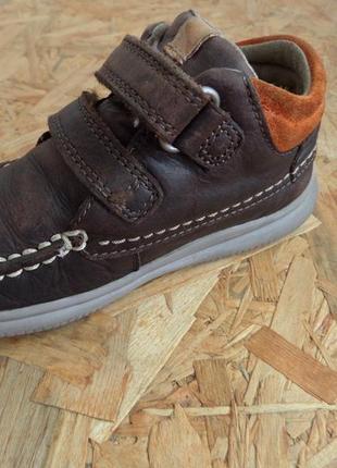 Ботинки clarks натур кожа 22-23 размер,14,5 см