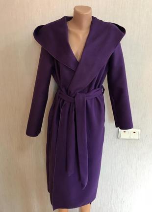 Шикарнейшее длинное пальто халат капюшон турецкий кашемир такое одно!