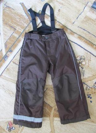 Зимний полукомбинизон лыжные штаны на подтяжках 104/110