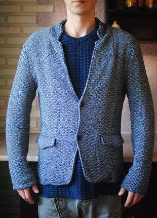 Мужской вязаный пиджак zara