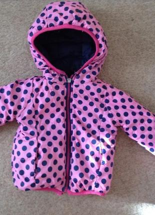 Деми курточка для маленькой модницы 1-1,5 года