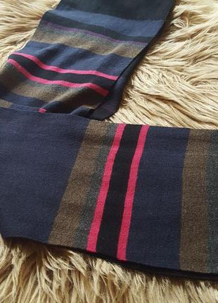 Шарф ted baker,шарф на осень,теплый черный шарф,яркий шарф,женский шарф,шарф в полоску