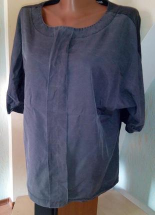 Серая блуза в стиле бохо