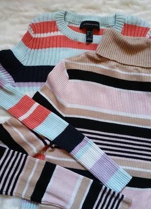 Гольф свитер полосатый
