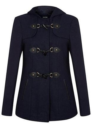 Пальто з капюшоном демисезонне george, p. m (eur 40)