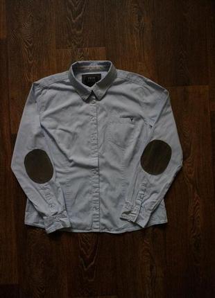 Рубашка 100% котон zero с накладными локтями