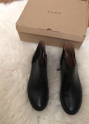 #новые #ботинки с #натуральная #кожа #zara. #ботинки #черные.