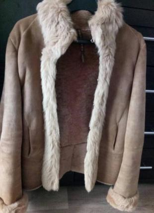 Натуральная короткая дубленка куртка xs sportmax code