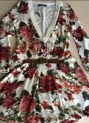 Платье туника трикотажное say