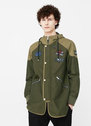 Куртка парка демисезонная eur l  непромокаемая