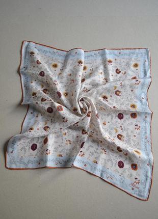 Шёлковый шейный платок  шов roul 50х50 100% шёлк  s.oliver
