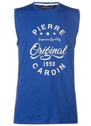 Pierre cardin - франция. футболка - майка. размеры  s, m, l. 100% оригинал